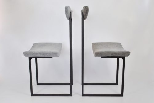 Chair TianAnMen GREY VELVET Archerlamps