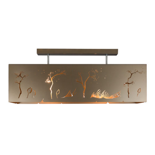 Geometric Ceiling Lamp BRONZE WIND Rectangle