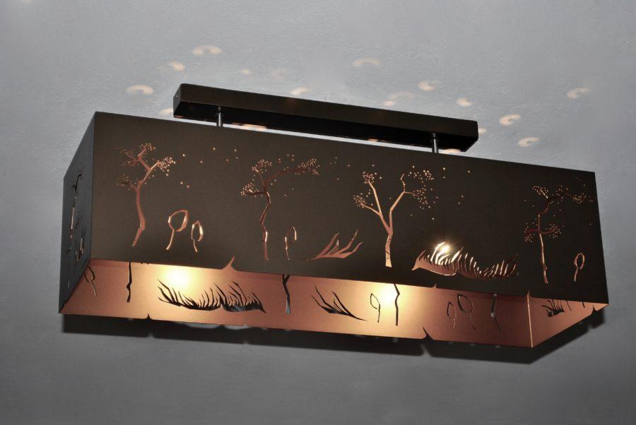 Geometric Ceiling Lamp BRONZE WIND Rectangle Archerlamps