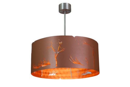 Modern Lamp, Ceiling Light COPPER WIND
