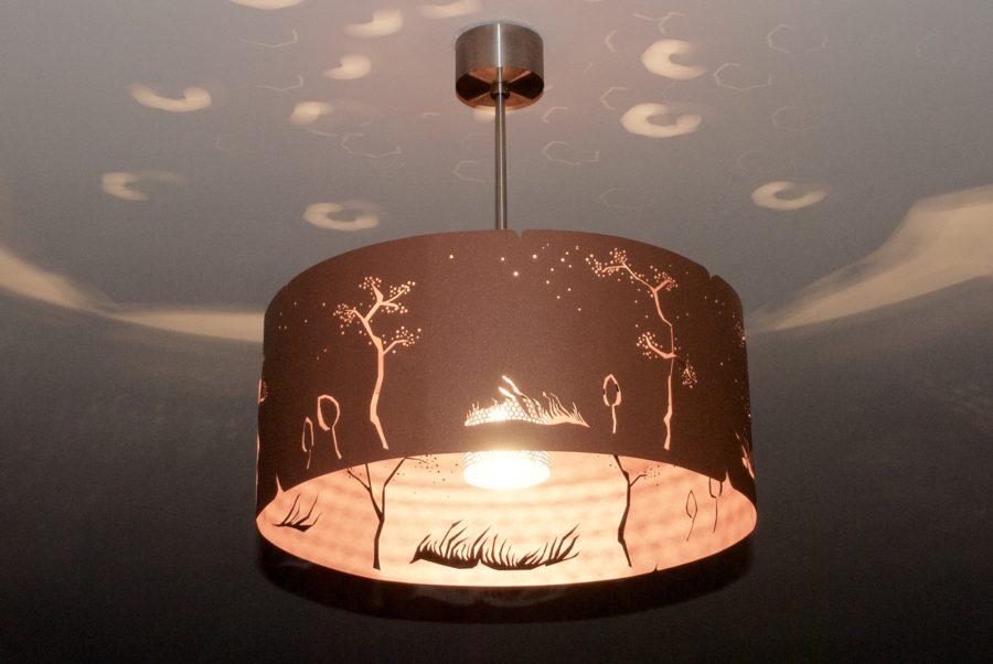 Modern Lamp, ceiling light COPPER WIND - Archerlamps