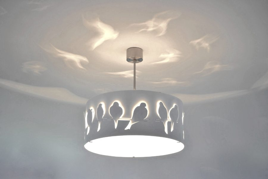 Modern Lamp, Ceiling Light WHITE BIRDS
