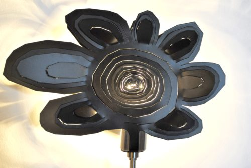 Modern Lamp, Unusual Table Lamp BLACK DAISY