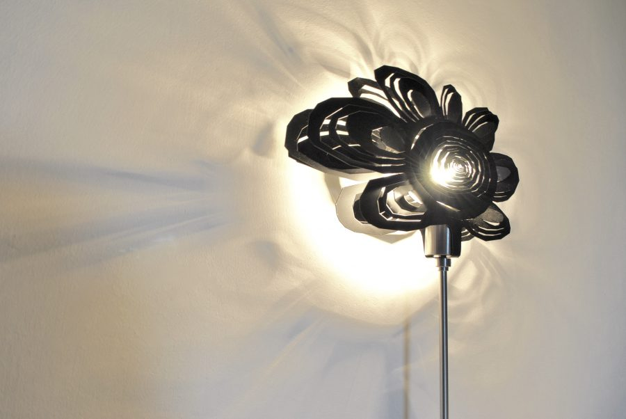 Modern Lamp, Unusual Table Lamp BLACK DAISY Archerlamps