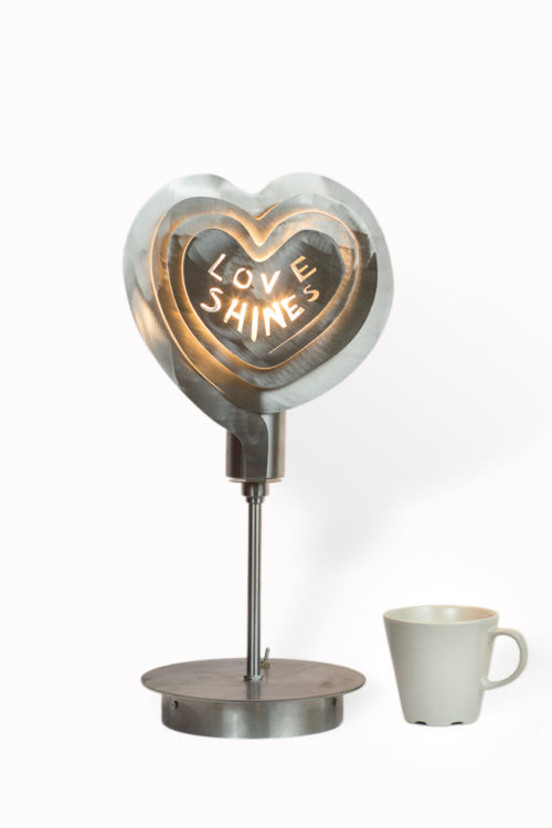 Modern Lamp, Unusual Table Lamp LOVE LIFE Archerlamps
