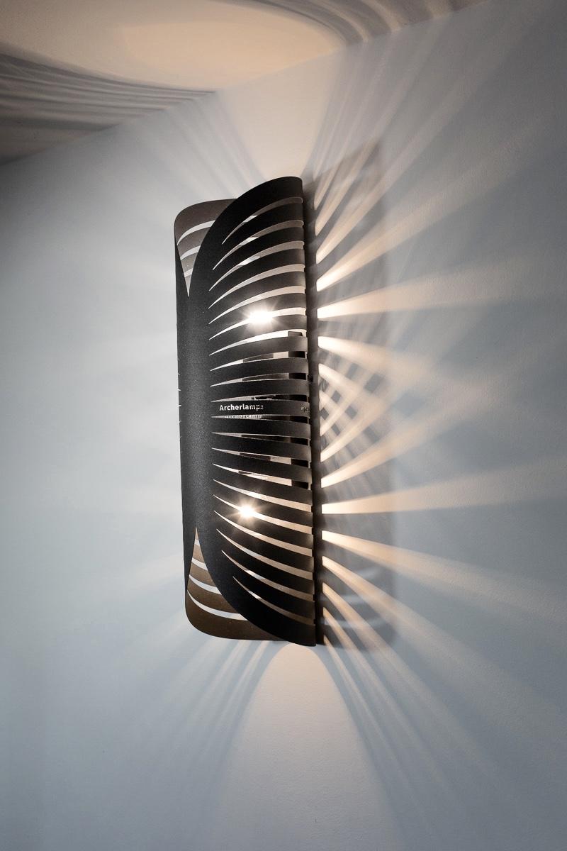Modern Lamp, Wall Light GRAY RAYS Archerlamps