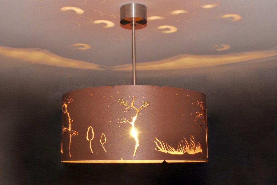 chandelier lamps COPPER WIND