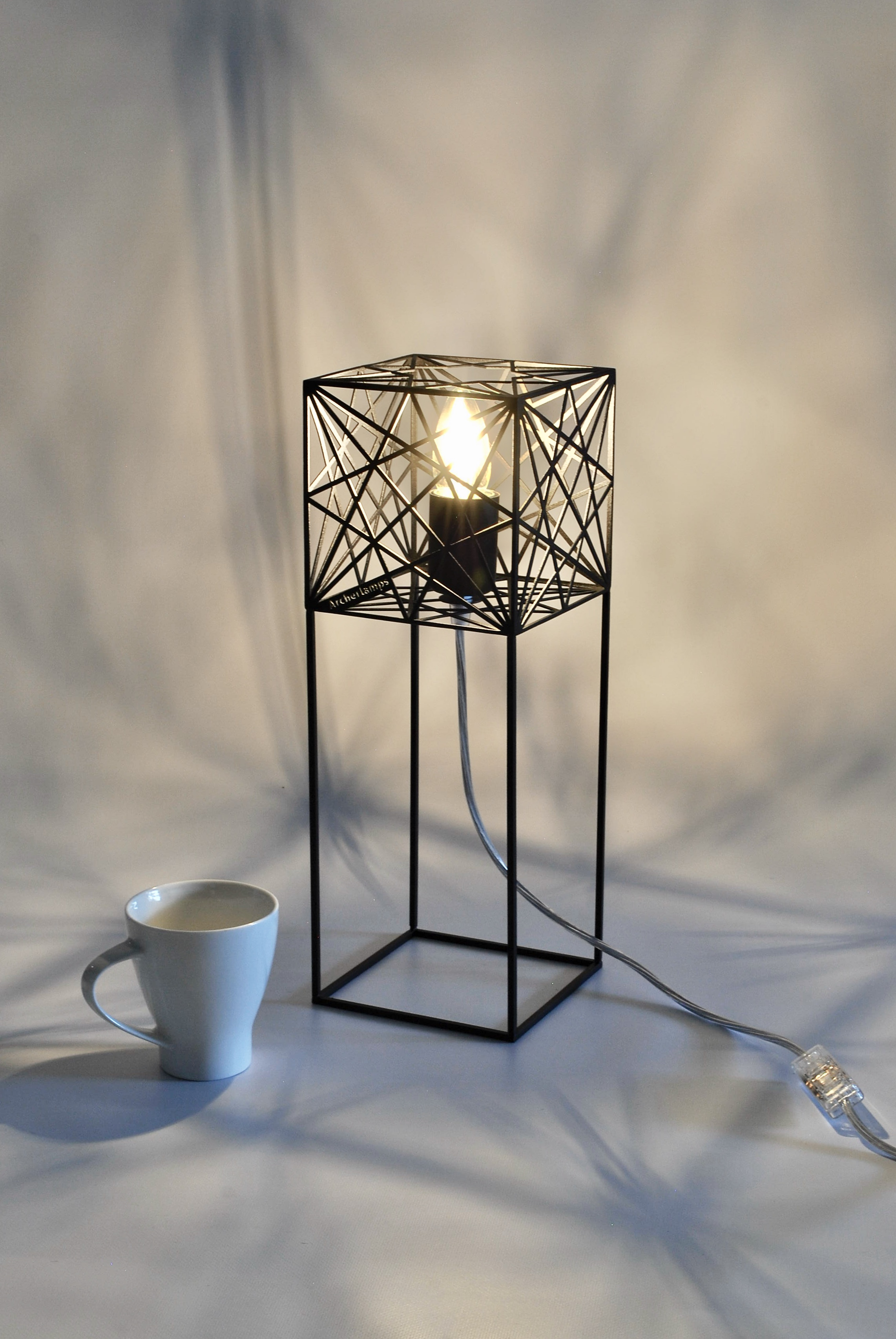 Mystic rose cube table lamp desk table lamps lighting archerlamps aloadofball
