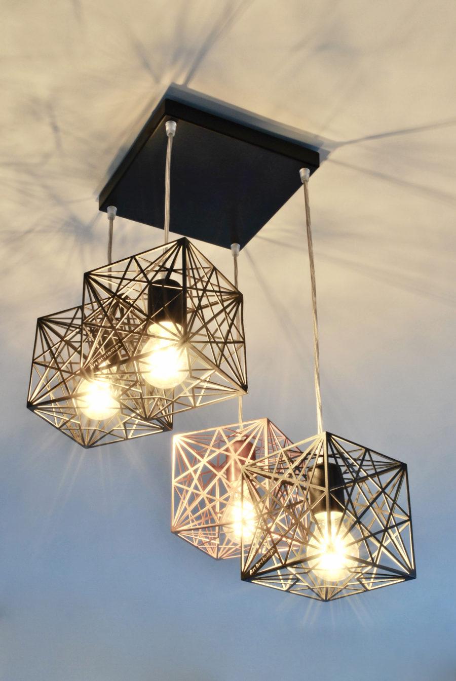 Geometric Modern Ceiling Lamp MYSTIC ROSE 4Q