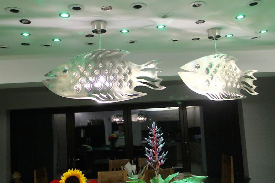 Metal Lamp Fish