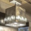 Steel Wall Light Cube